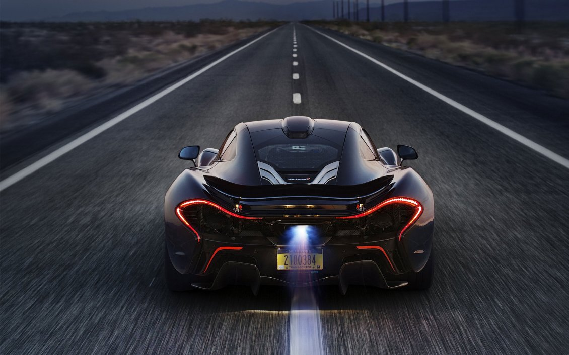 Beach Ford Service >> McLaren P1 flame on exhaust HD