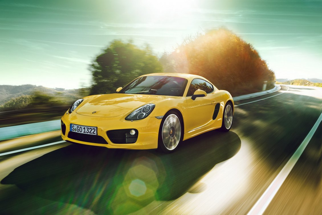 Download Wallpaper Porsche Cayman 2014 HD