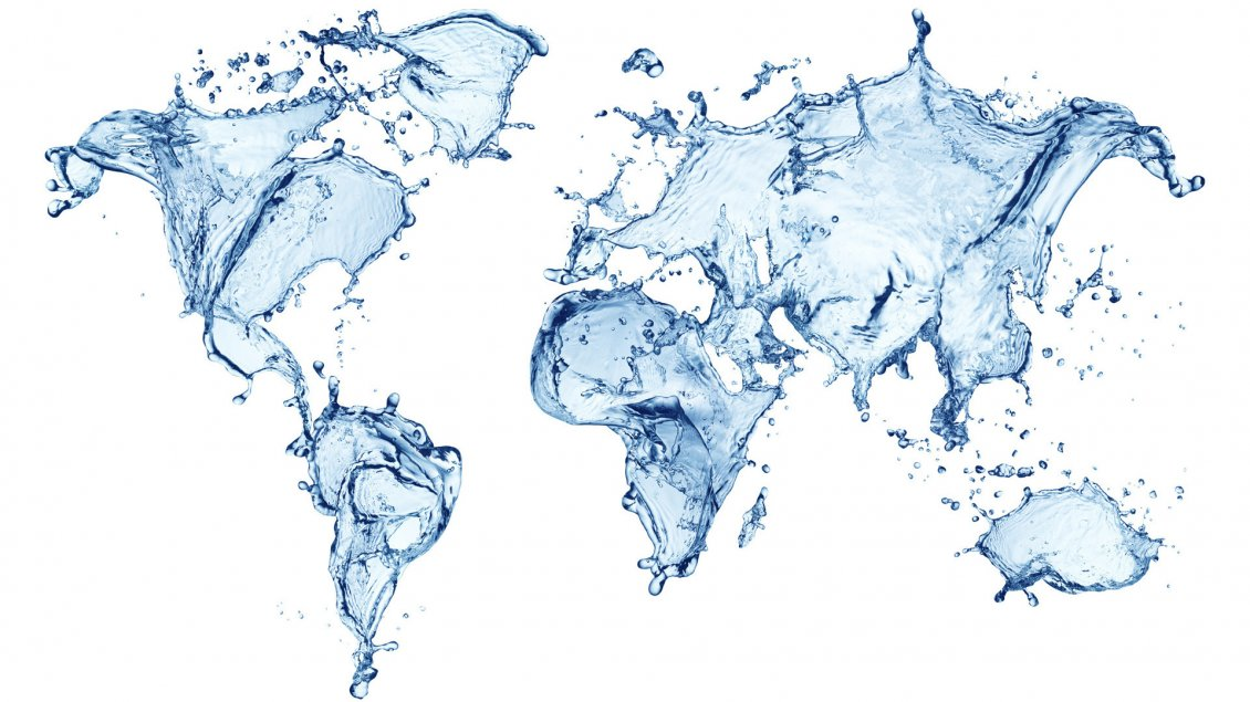 Map of the world make of water gumiabroncs