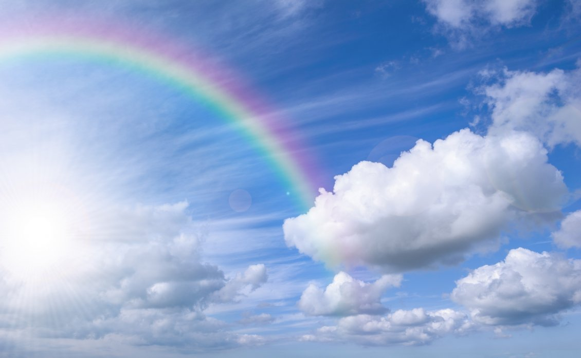 blue cloud with rainbow wallpaper - photo #13