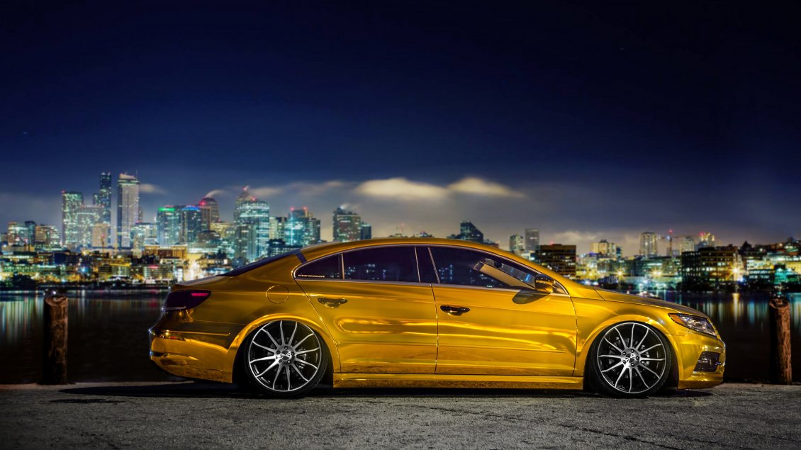 gold volkswagen passat cc car tuning. Black Bedroom Furniture Sets. Home Design Ideas