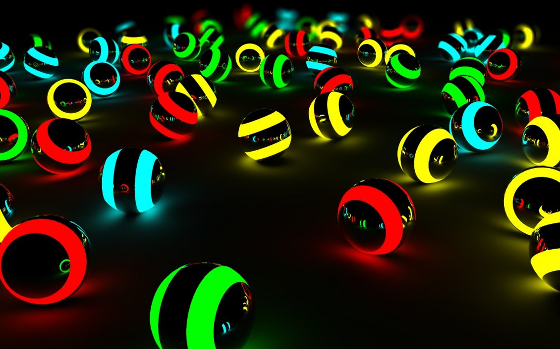Download Wallpaper Spheres in many color - 3D & HD wallpaper