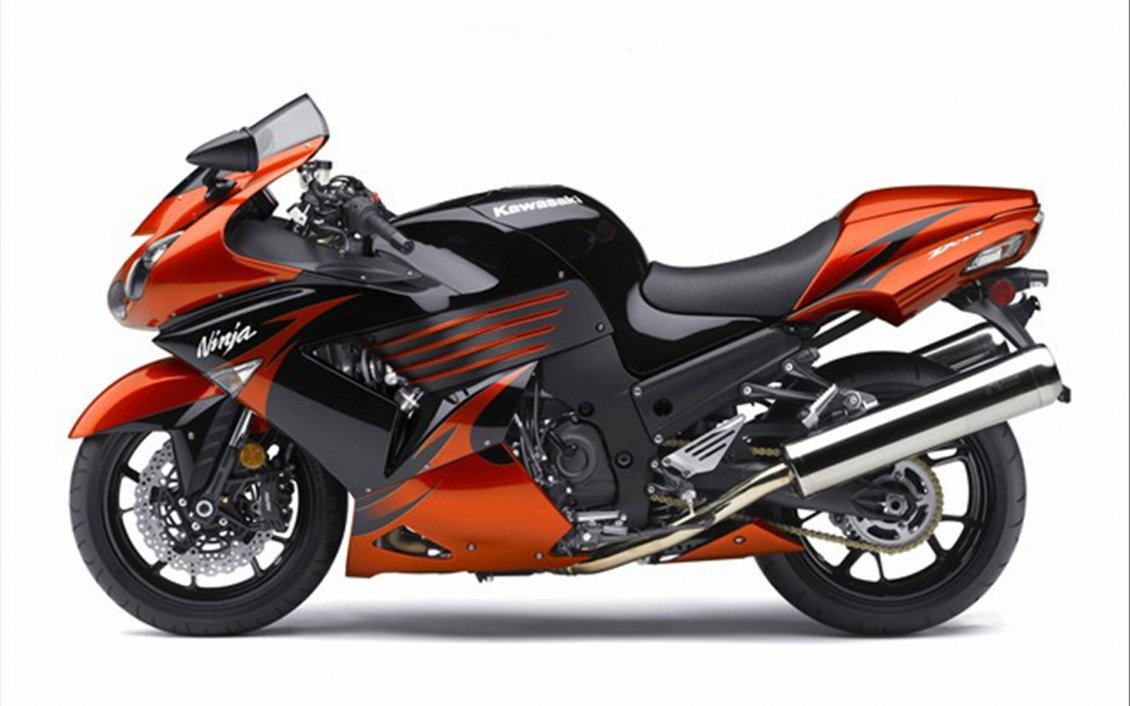 Download Wallpaper Orange and black Kawasaki Ninja
