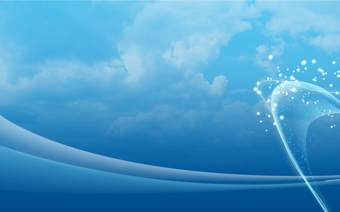 Blue Sky Abstract Wallpaper