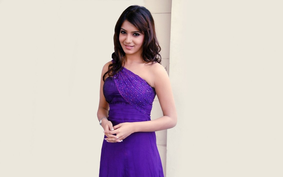 samantha ruth prabhu in purple dress