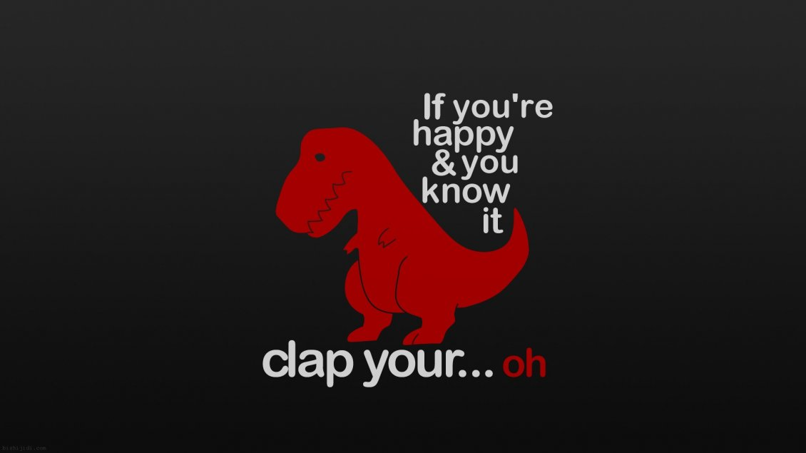 Download Wallpaper Funny little red dinosaur - happy and sad