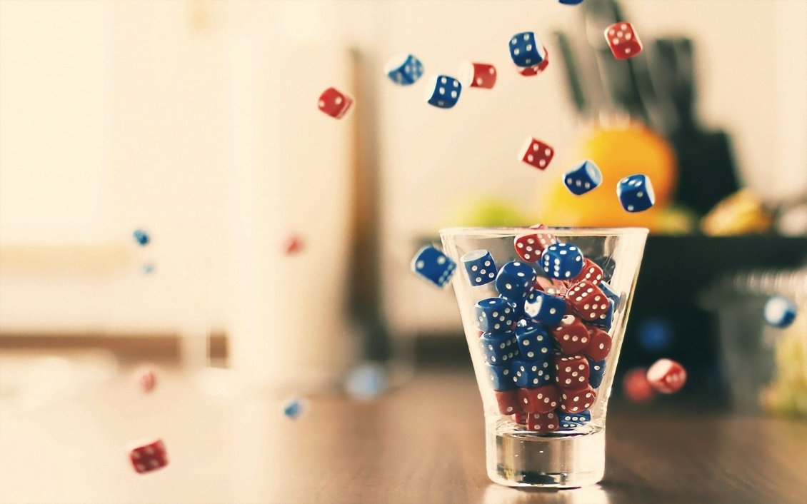Download Wallpaper Lots of red and blue dice - social games