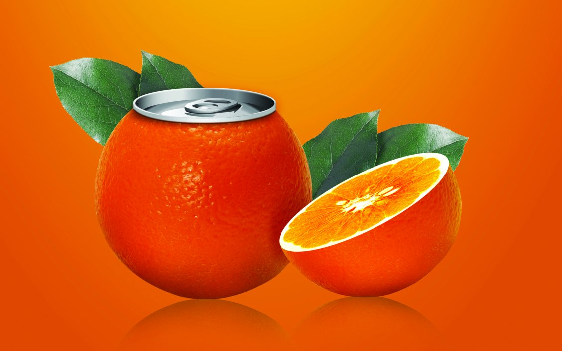Download Wallpaper Juice dose in the form of orange