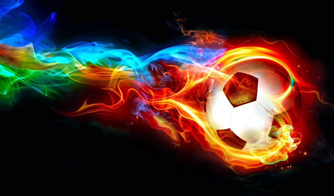 Download Wallpaper Ball in flames - Abstract wallpaper