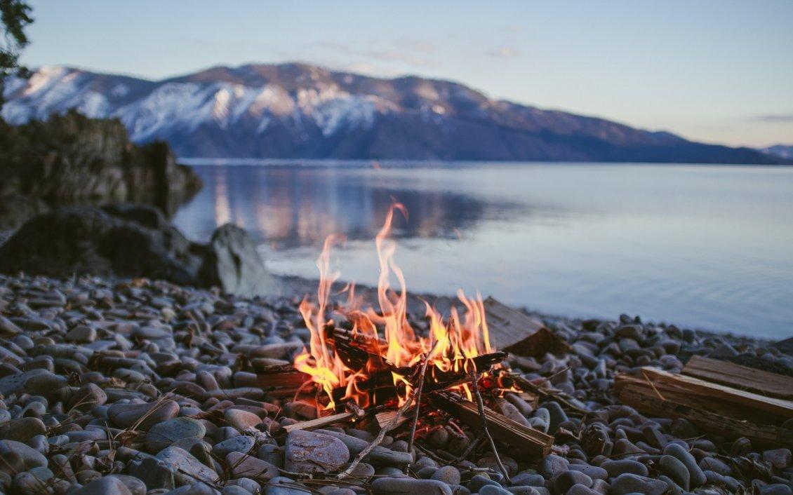 Acura Of The Desert >> Picnic fire on beach HD