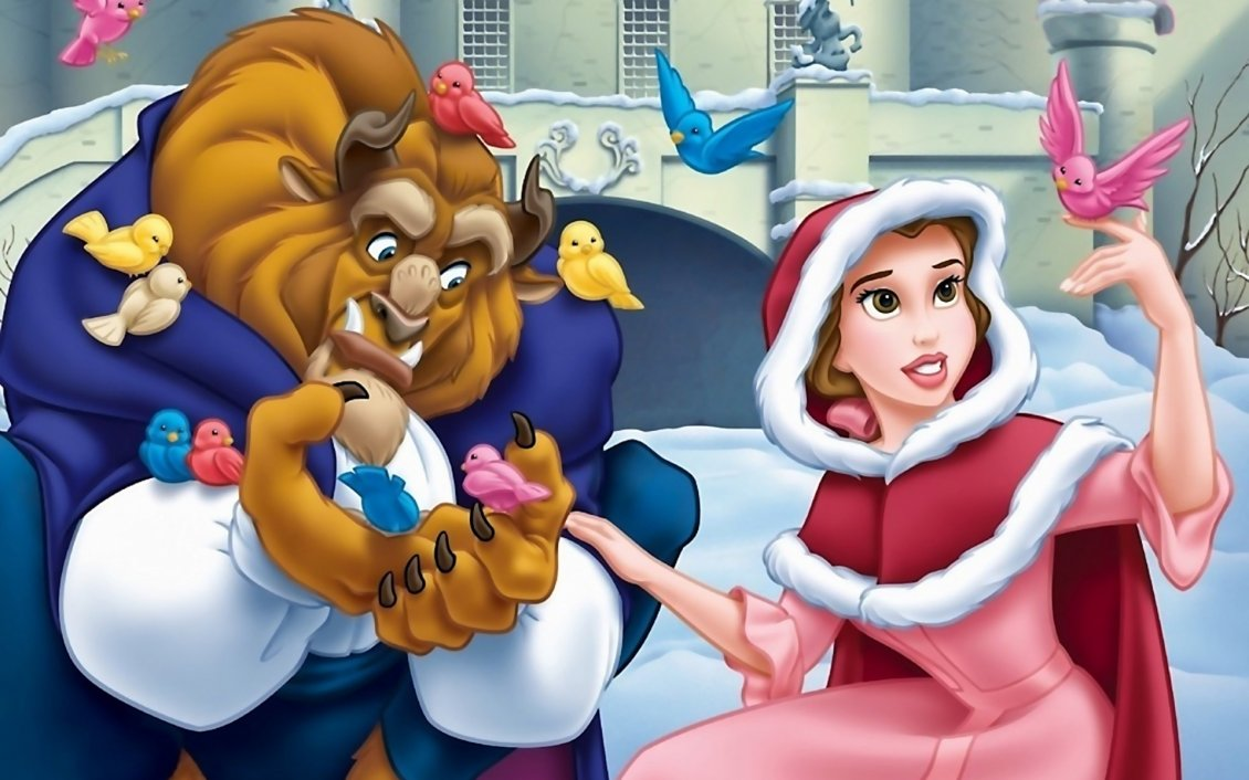 Download Wallpaper Beauty And The Beast - Animation movie
