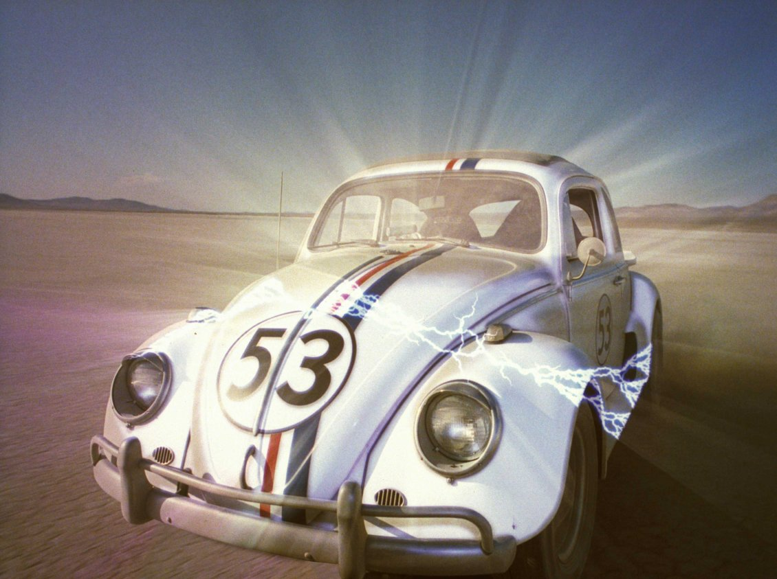 Download Wallpaper Herbie 53 in the desert - Herbie The Love Bug
