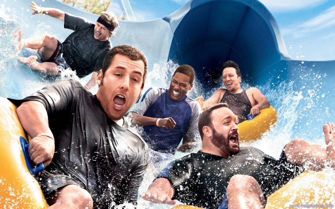 Download Wallpaper Actors on the water slide - Grown Ups