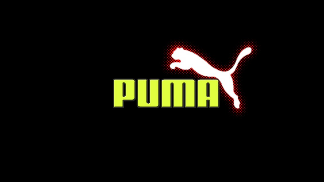 Download Wallpaper Puma logo in red, white and green