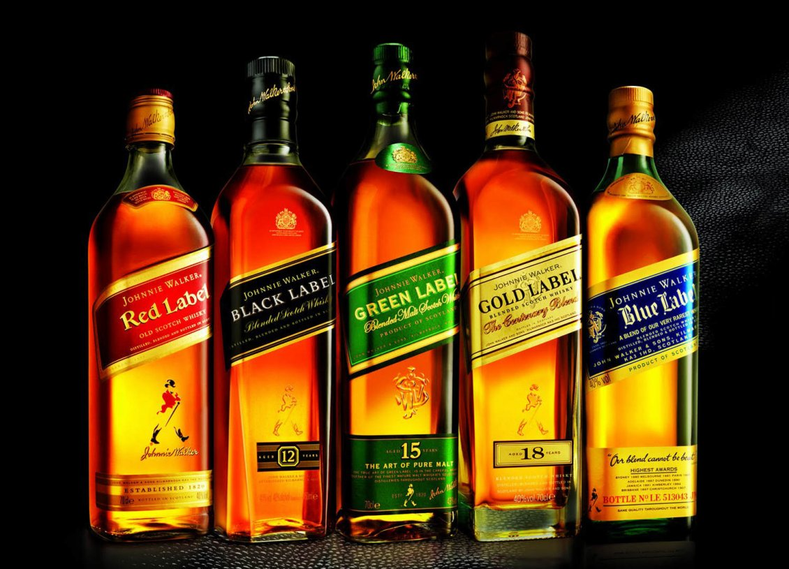 Download Wallpaper Different whisky bottles - Most popular whisky