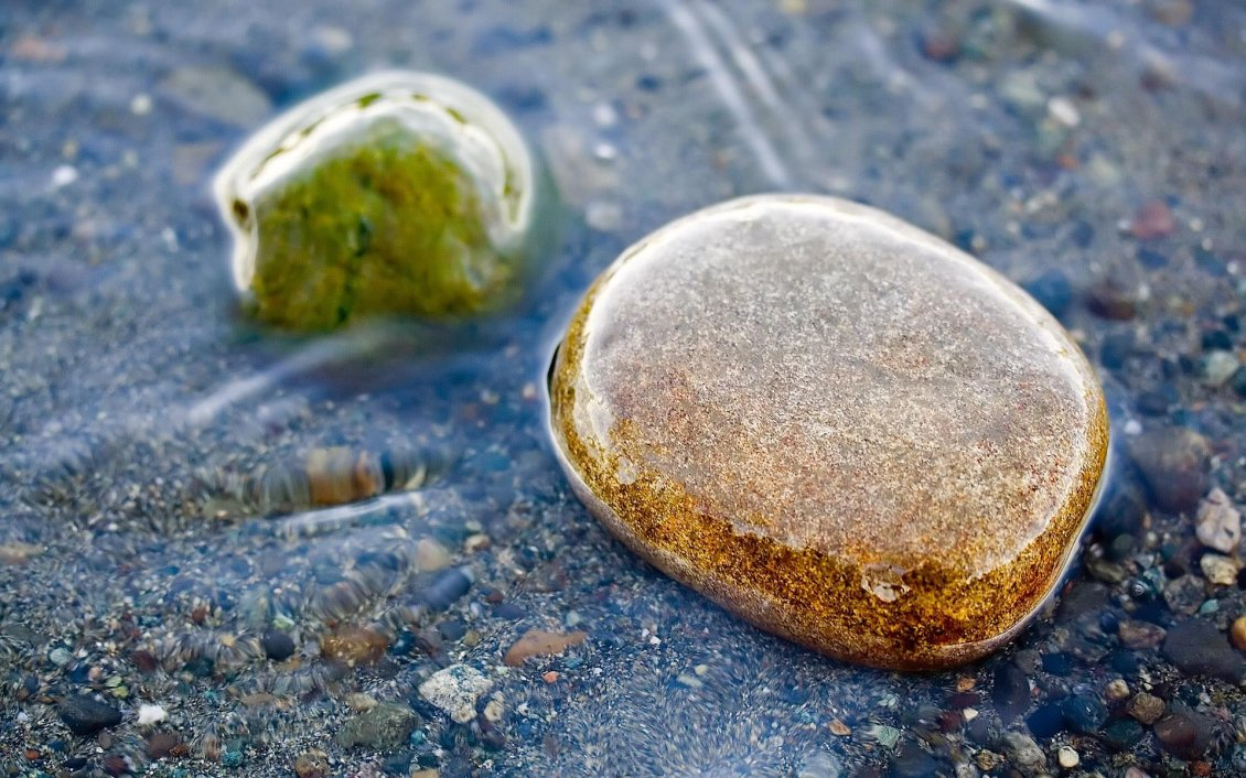 Download Wallpaper 3D Stones in water - 3D wallpapers