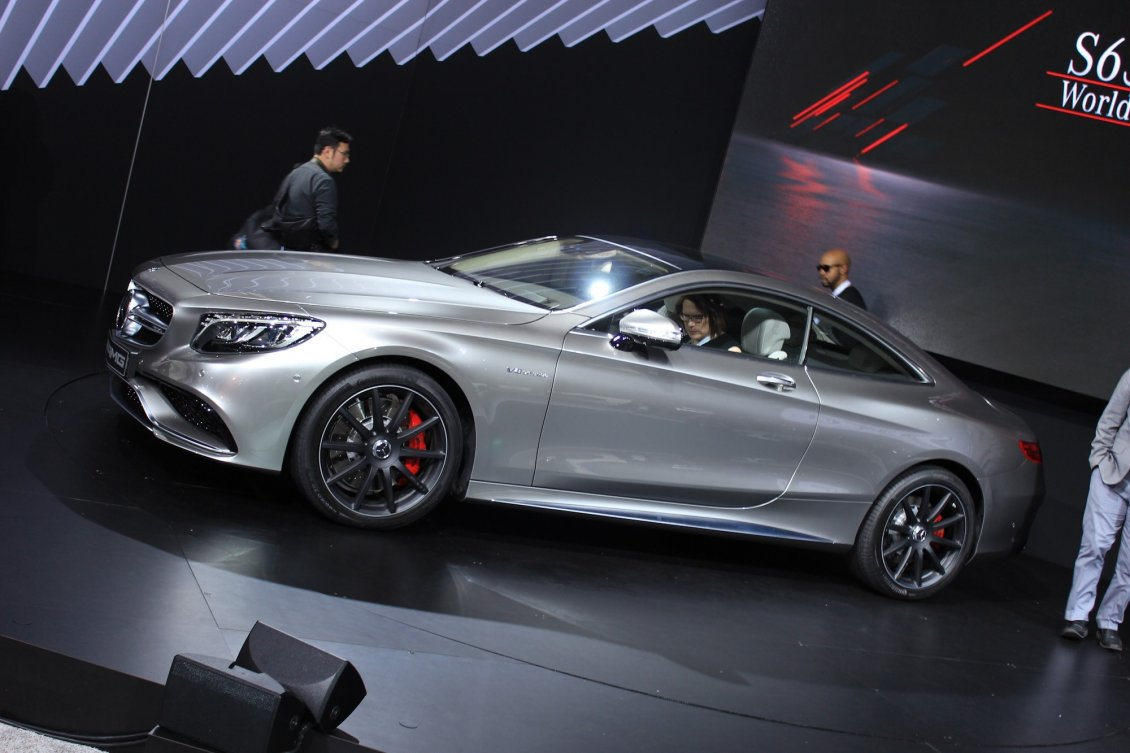 Gray Mercedes Benz S63 AMG Coupe 2015