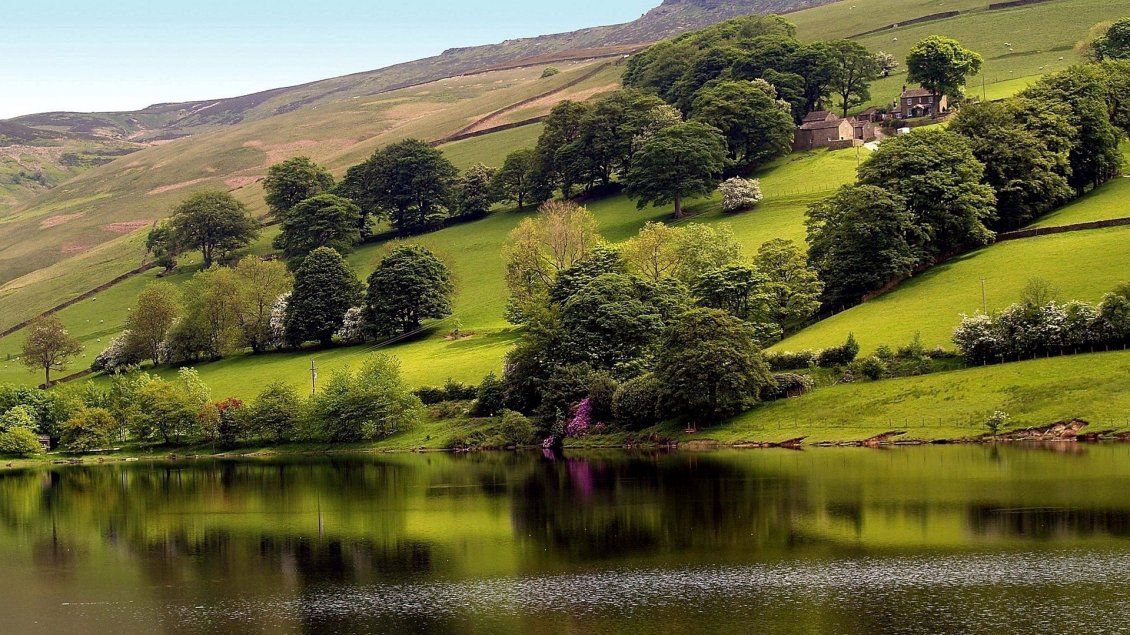 Super Nature Green Hills And Water