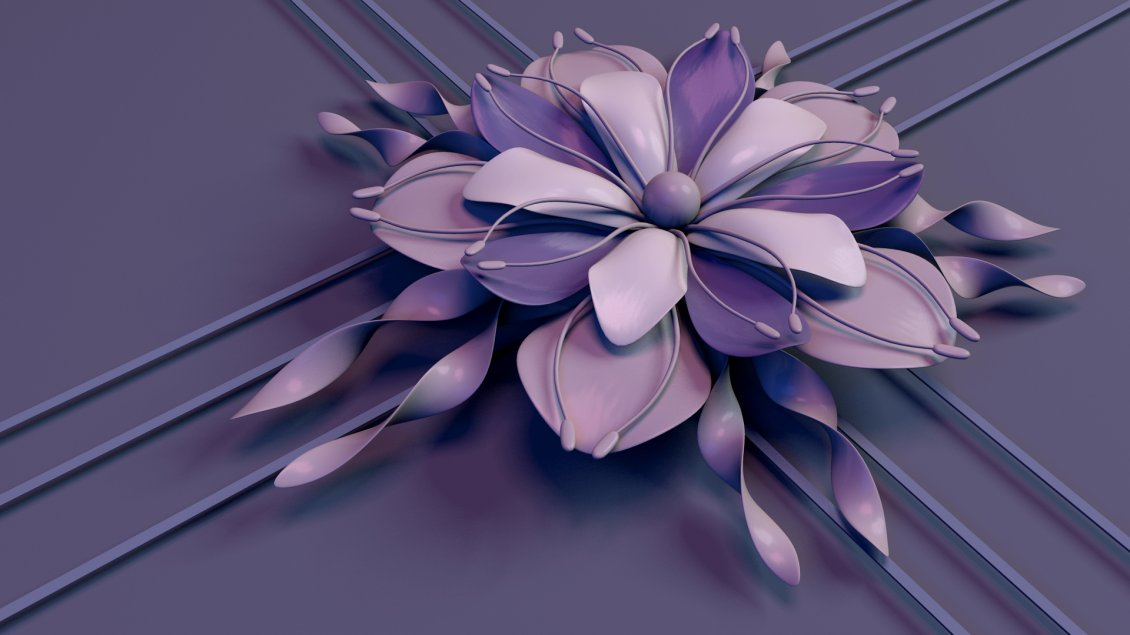 Download Wallpaper Abstract flower - Beautiful purple 3D flower