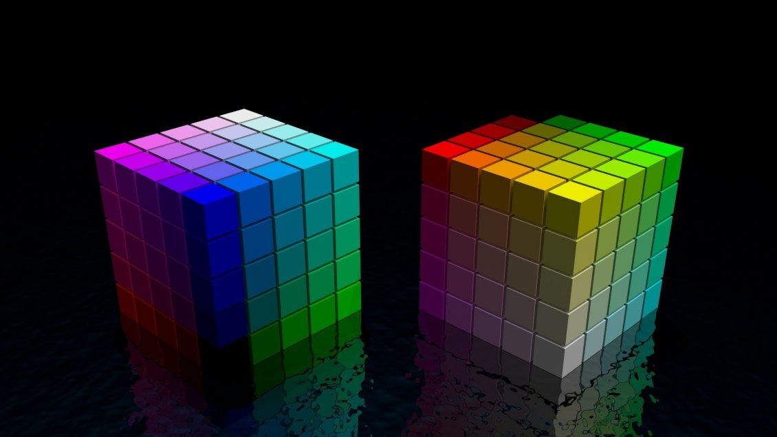 Download Wallpaper Colorful 3D cubes wallpaper