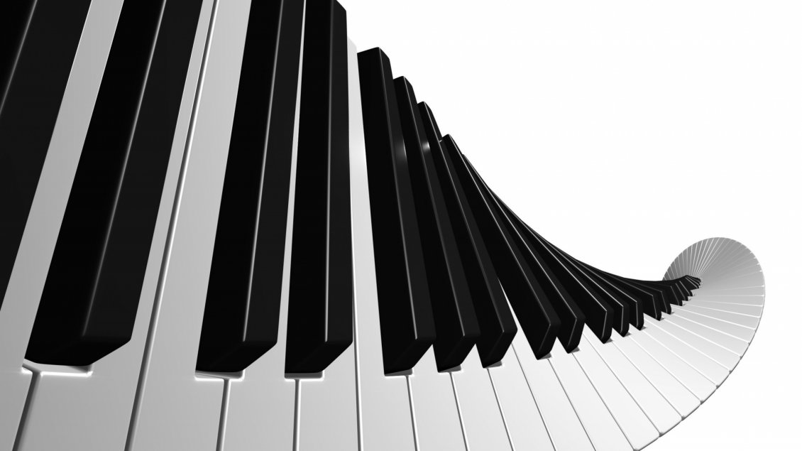Download Wallpaper Abstract piano keys - White and black wallpaper