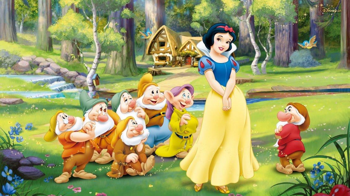 Snow White And The Seven Dwarfs 3d Wallpaper