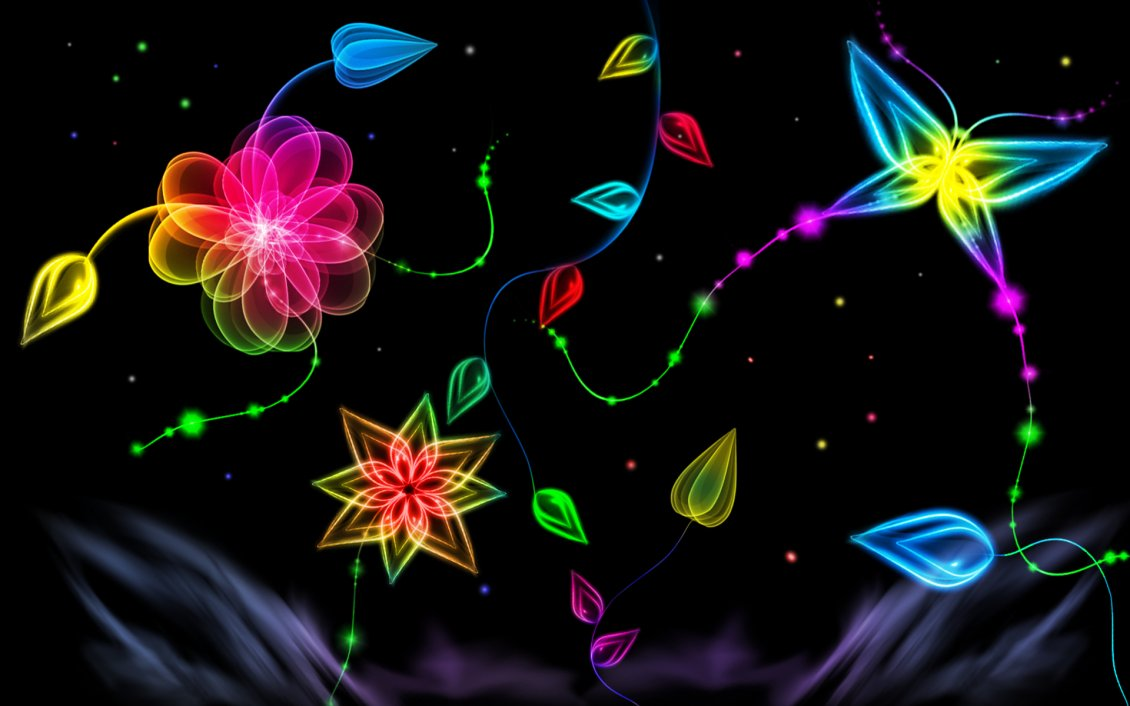 Download Wallpaper Abstract colorful graphics in a wallpaper
