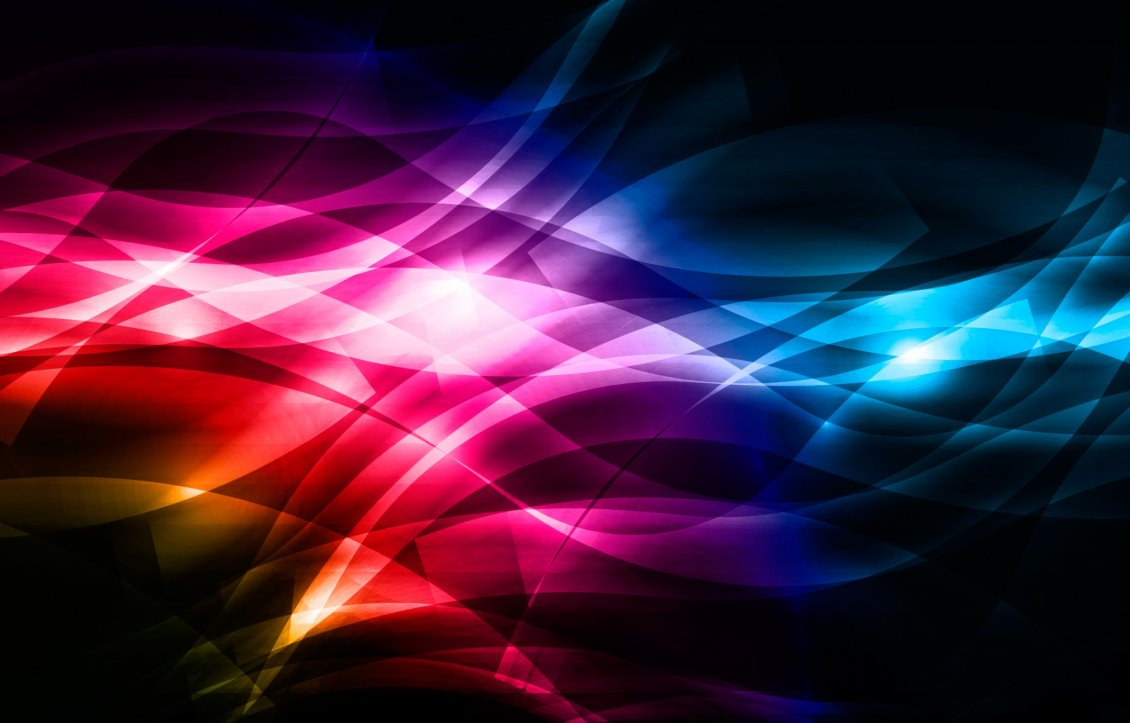 Download Wallpaper Colorful lines in a dark background