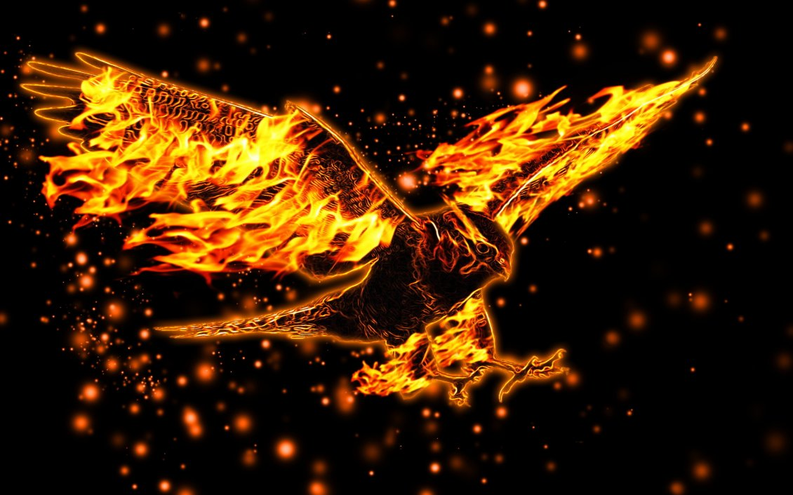 Download Wallpaper Fire eagle - Abstract eagle wallpaper