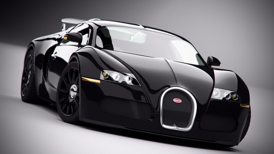 Download Wallpaper Bugatti Veyron - Black car wallpaper