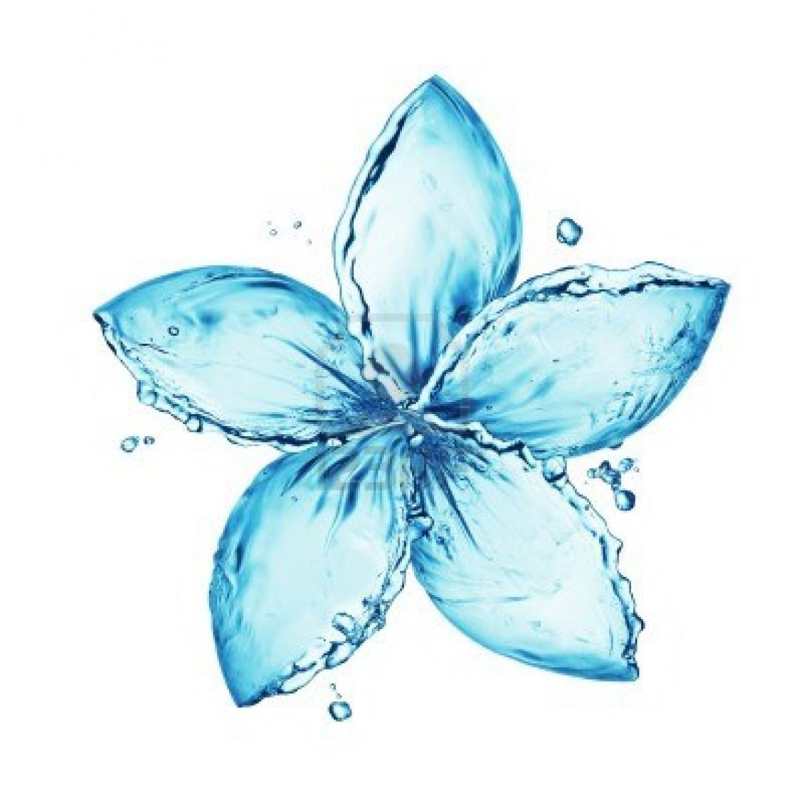 Download Wallpaper Awesome blue flower made of water