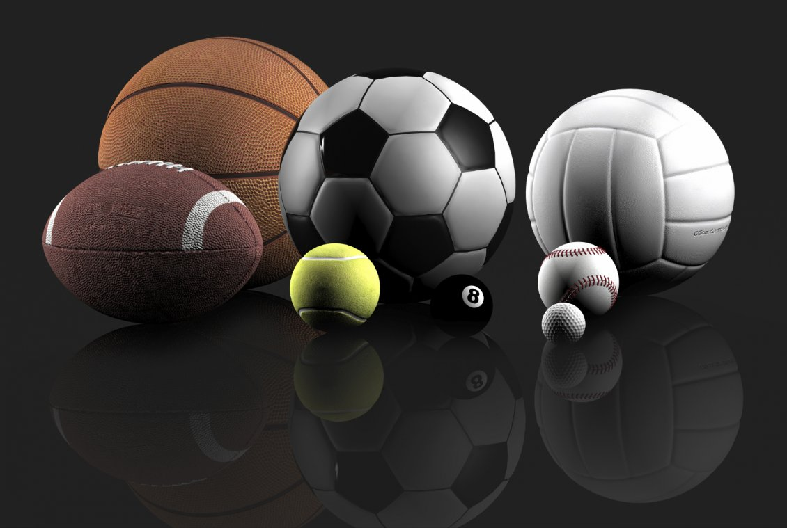 balls for different sports - hd wallpaper