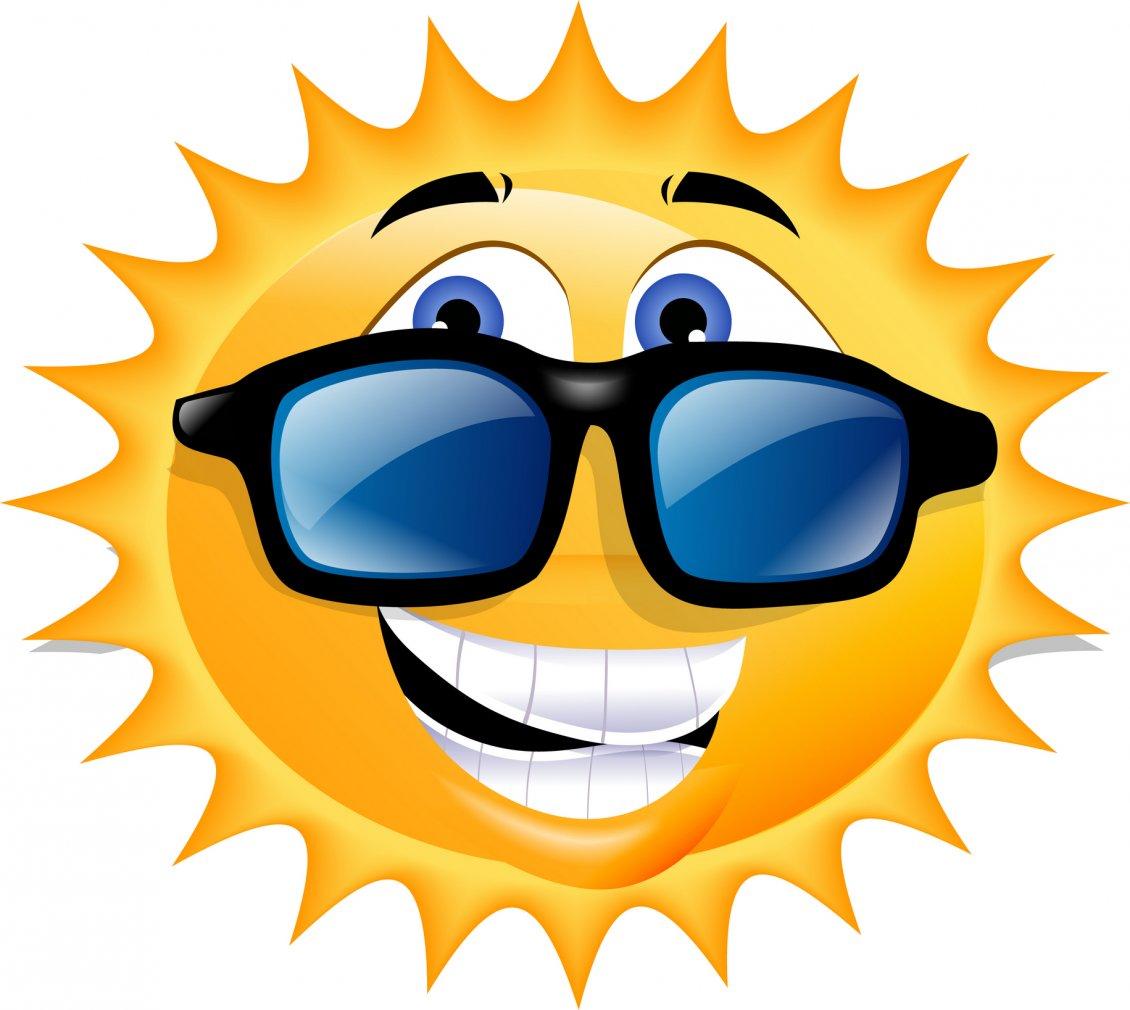 A Happy Sun With Sunglasses Funny Wallpaper