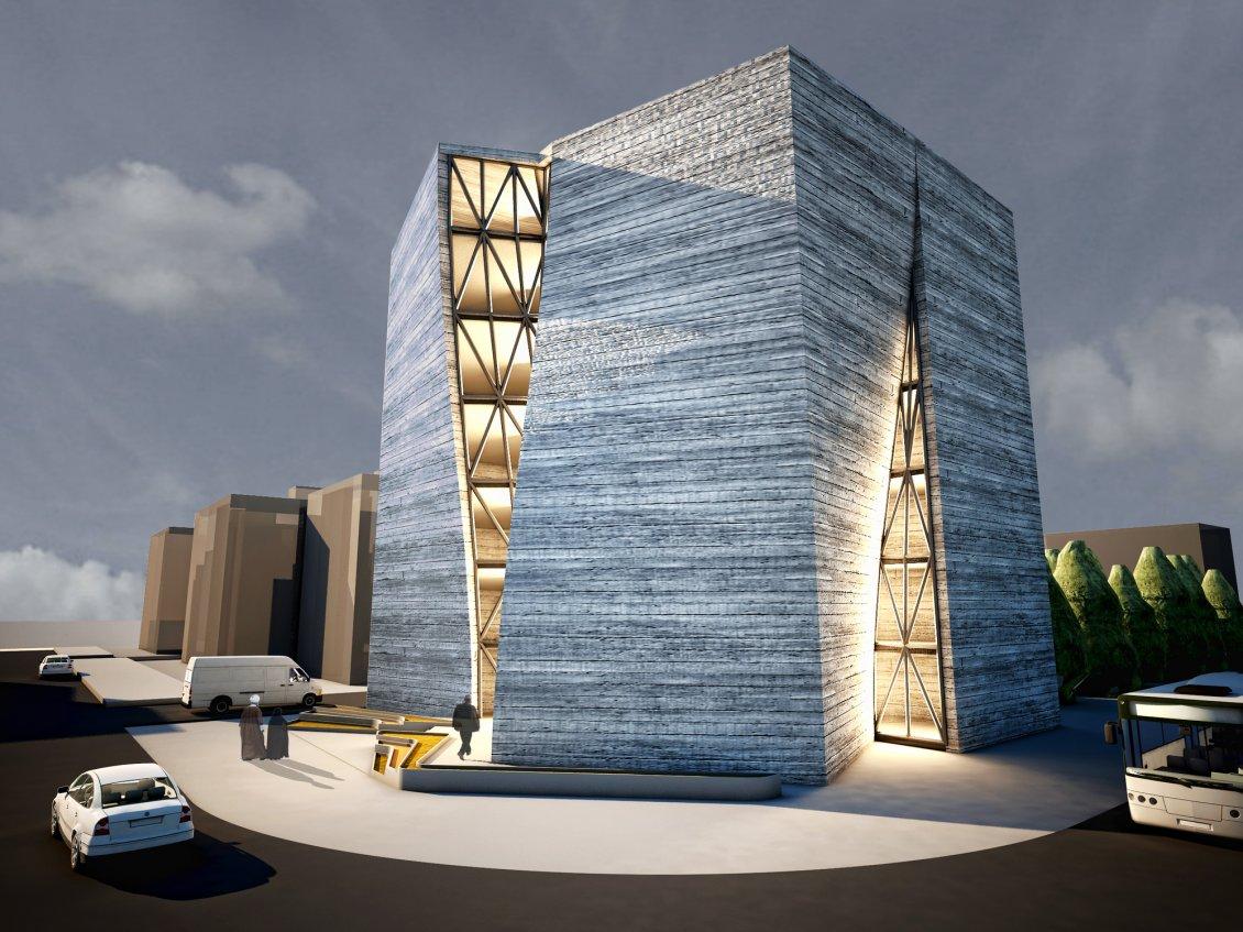 Modern Iranian Architecture Building Wallpaper