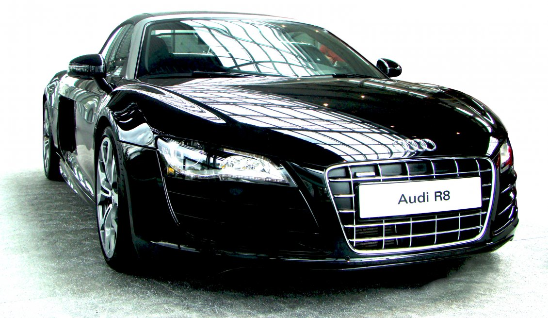 Black Audi R8 Splendid Car Wallpaper