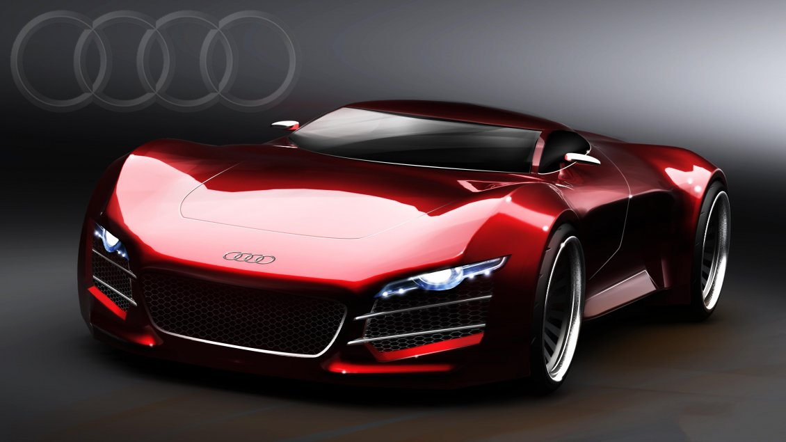 Sport Audi R10 Red Car Wallpaper