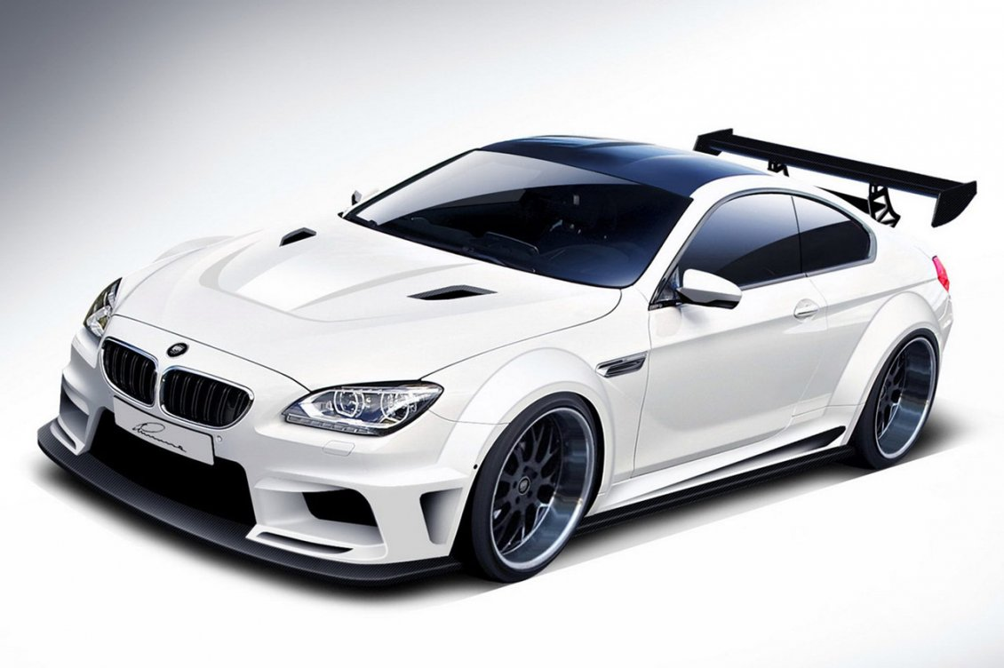 Download Wallpaper Tuning BMW M6 - White sport car