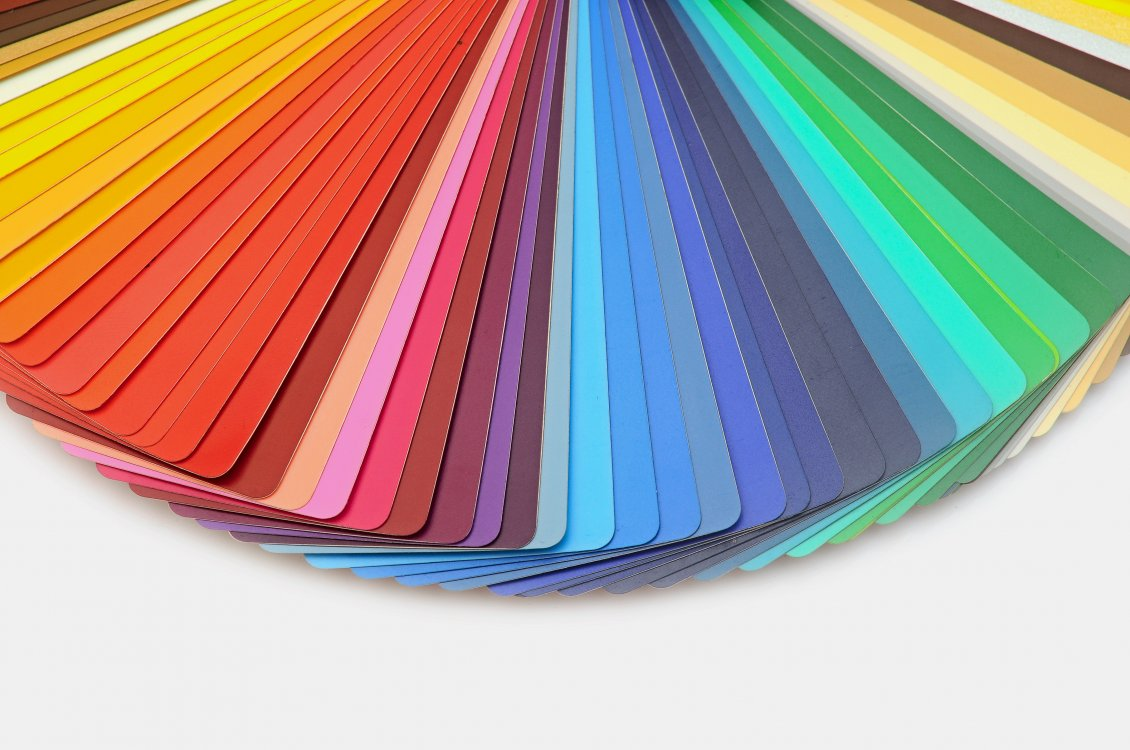 Download Wallpaper Colorful fan of playing cards - Rainbow fan