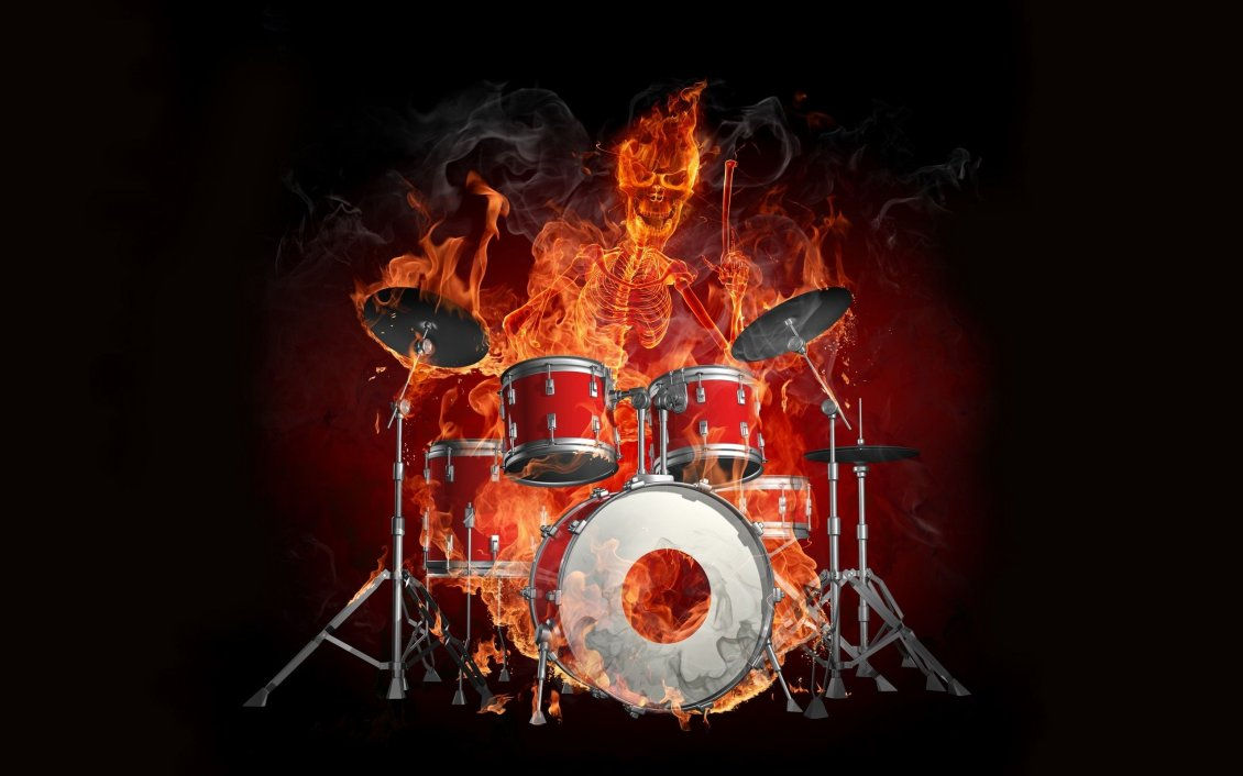 Fantastic Wallpaper Music Fire - 9836_Drums-and-the-skeleton-of-a-man-burn-in-flames  You Should Have_129112.jpg