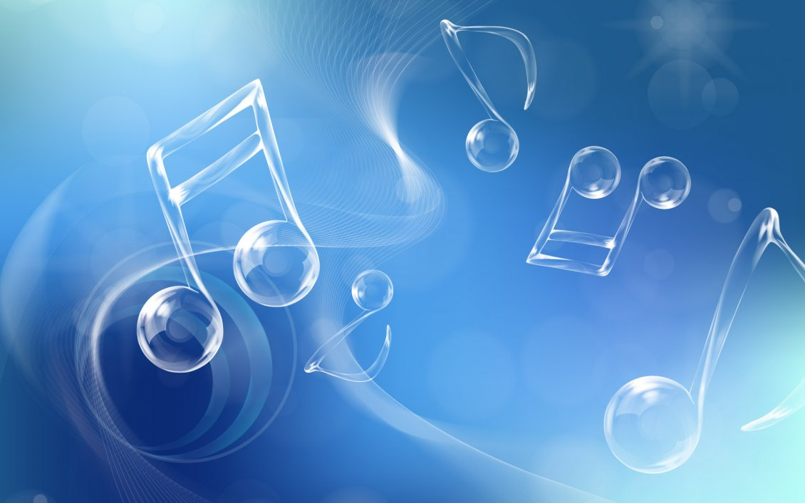 Download Wallpaper Music is the voice of the soul - Notes in the air