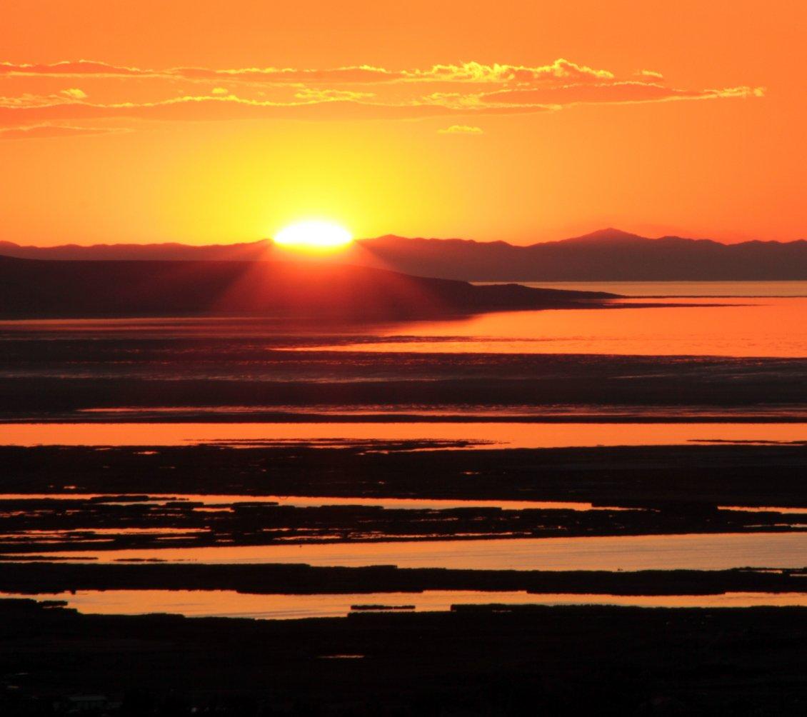Orange Sky, Sunset Moment