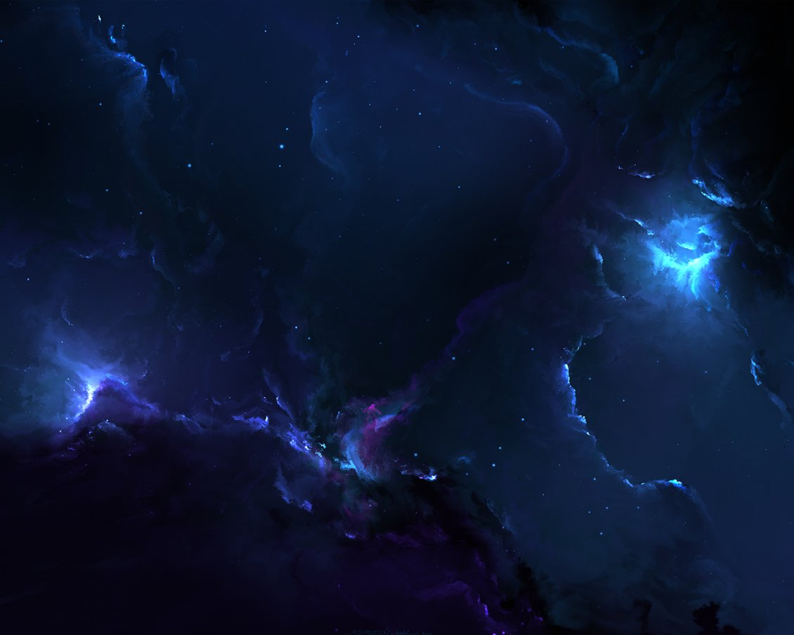 Download Wallpaper Abstract dark sky with blue light - Fantasy wallpaper