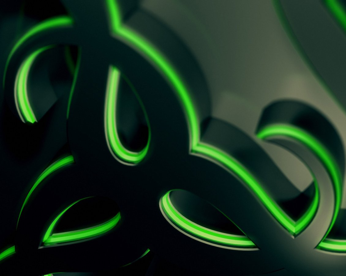 Abstract Green And Black Wallpaper Razer Gaming