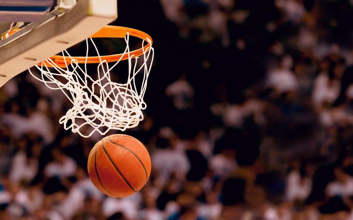 Basketball Hoop And A Ball Sport Wallpaper