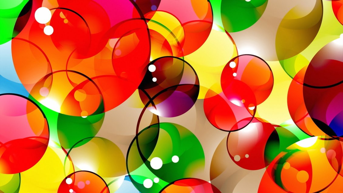 Download Wallpaper 3D colorful bubbles wallpaper