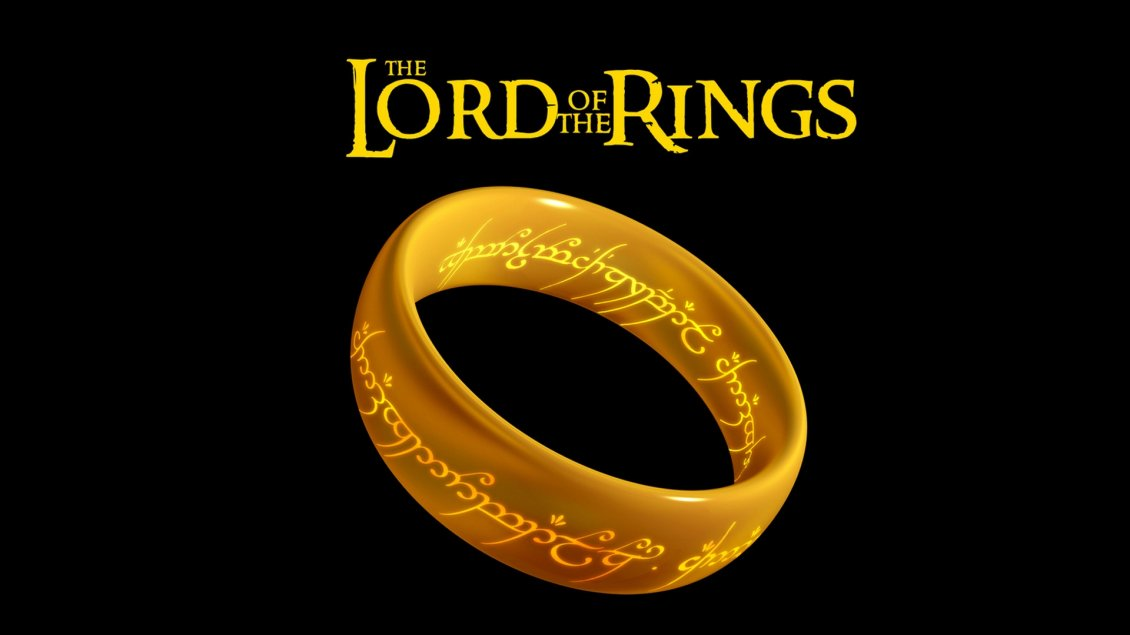 Download Wallpaper The Lord of the Rings logo - Golden ring