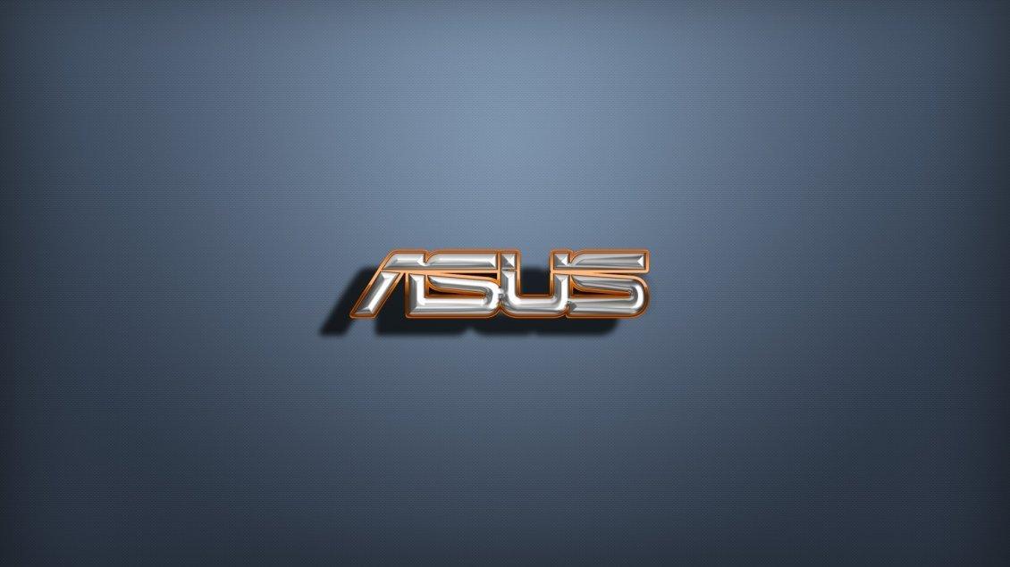 Golden and silver 3d asus logo wallpaper for Silver 3d wallpaper