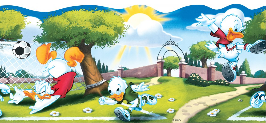 Tick Trick Track And Donald Duck Play Football