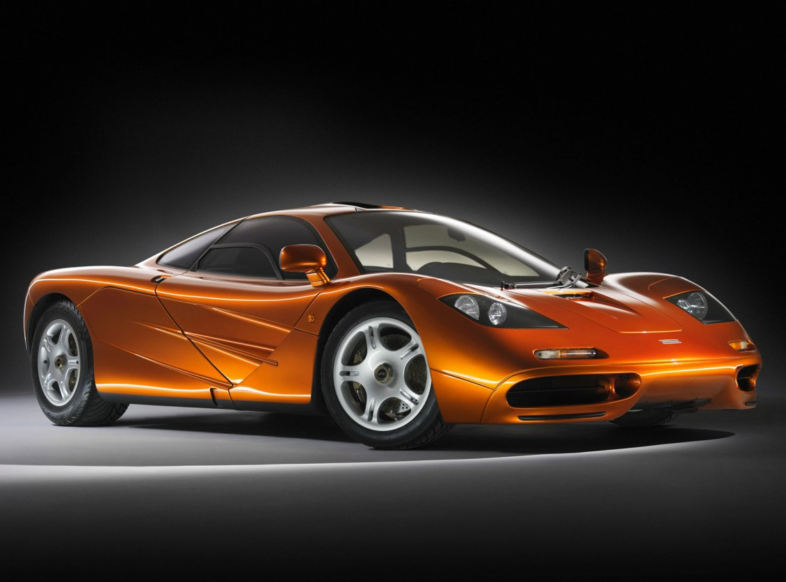 Orange Mclaren F1 Tuned Sport Car