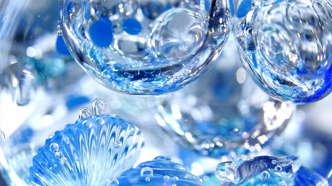 3d blue water drops hd wallpaper for Wallpaper for walls rates